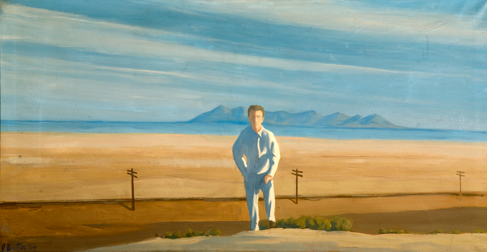 John Button (1929-1982), American, The Great Salt Lake (Self-Portrait), 1964, oil on canvas, permanent collection Utah Museum of Fine Arts, University of Utah, gift of Mr. Sidney Talisman