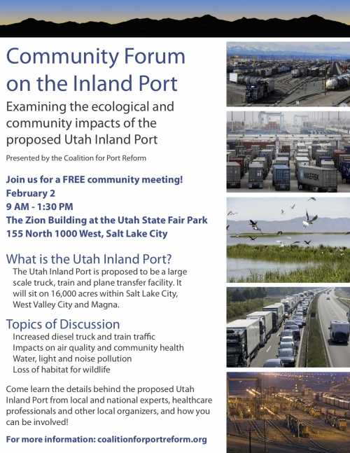 Community Forum on the Inland Port Feb. 2