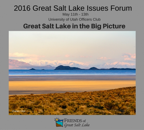 Registration for the 2016 Great Salt Lake Issues Forum is now OPEN!!